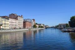 The Fontanka river embankment in St.Petersburg. Russia Stock Image