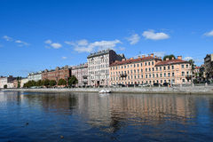 The Fontanka river embankment in St.Petersburg. Russia Royalty Free Stock Photo