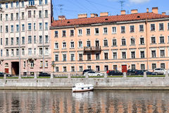 The Fontanka river embankment in St.Petersburg Stock Images