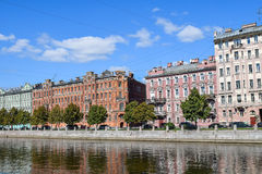 The Fontanka river embankment in St.Petersburg Royalty Free Stock Image