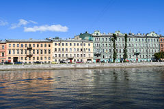 The Fontanka river embankment in St.Petersburg Royalty Free Stock Photography