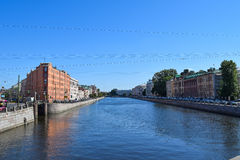 The Fontanka river embankment in St.Petersburg Royalty Free Stock Photos