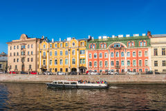 Fontanka river Embankment. Fontanka river Embankment in St. Petersburg, Russia Stock Photography