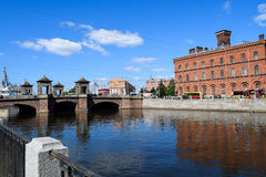 The Fontanka river embankment in St.Petersburg Royalty Free Stock Photo