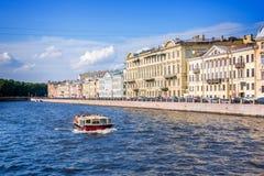 Fontanka river landscape, St Petersburg, Russia Royalty Free Stock Photos