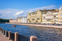 Fontanka river landscape, St Petersburg, Russia Royalty Free Stock Photos