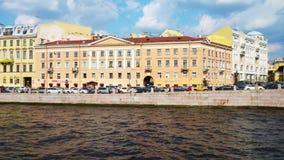Fontanka river in Saint Petersburg stock video