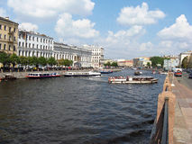 Fontanka river in Saint Petersburg. Russia. Stock Photography