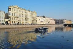Fontanka river in   Saint-Petersburg Stock Image