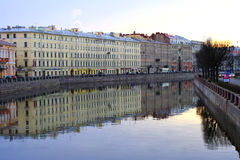 Fontanka river of Saint-Petersburg. Russia. View from Anichkov bridge Stock Images