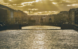 Fontanka river Stock Images