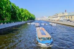 Fontanka rzeka w świętym Petersburg Obraz Royalty Free