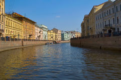 Fontankarivier in Heilige Petersburg Rusland stock afbeelding