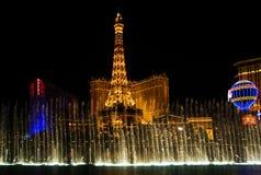 fontann noc przedstawienie Vegas Obraz Royalty Free