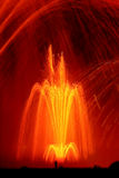 fontann pomarańcze śpiew Zdjęcie Stock