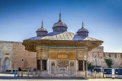 Fontanna Ahmed III, Istanbuł, Turcja Fotografia Stock