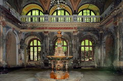 Fontanna Baile Herculane, Rumunia xix wiek - Obrazy Stock