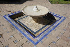 Fontanna basen, Casa De Pilatos, Seville, Hiszpania obraz royalty free