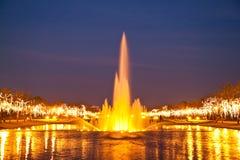 fontanna beautyful zmierzch Zdjęcia Stock
