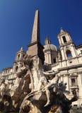 Fontanna Cztery rzeki, Rzym, Włochy Obraz Royalty Free