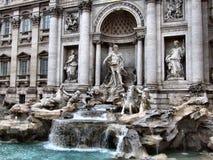 Fontanna di Trevi em Roma Fotos de Stock