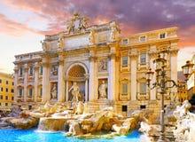 Fontanna Di Trevi, Rzym. Włochy. Obrazy Royalty Free
