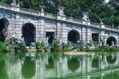 Fontanna Eolo Royal Palace uprawia ogródek w Caserta, Włochy zdjęcia stock