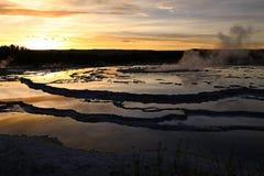 fontanna gejzeru wielki słońca zdjęcia royalty free