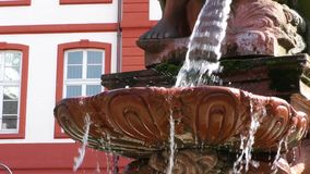 Fontanna i dom w Frankfurt zdjęcie wideo