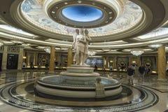 Fontanna i statuaryczny w caesars palace Las Vegas zdjęcia royalty free