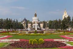 Fontanna kamienia kwiat, Moskwa Zdjęcia Royalty Free