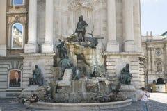 Fontanna królewiątko Matthias w Budapest obraz stock