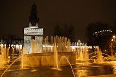 fontanna Milan Zdjęcia Stock