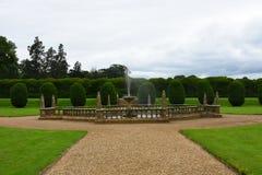 Fontanna, Montacute dom, Somerset, Anglia zdjęcia stock