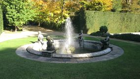 Fontanna monumentalny ogród Valsanzibio Galzignano Terme Padua zbiory wideo