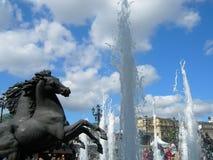 fontanna Moscow Rosji Obrazy Royalty Free