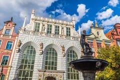 Fontanna Neptune w starym miasteczku Gdański, Polska Obrazy Royalty Free