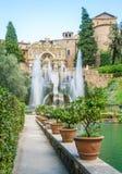 Fontanna Neptune w willa d ` Este, Tivoli, Lazio, środkowy Włochy zdjęcia royalty free