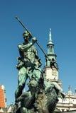 Fontanna Neptune z urzędem miasta Obraz Royalty Free