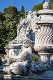 Fontanna ogródy Nimes Zdjęcia Stock