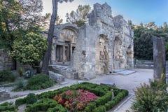Fontanna ogródy Nimes Obraz Royalty Free