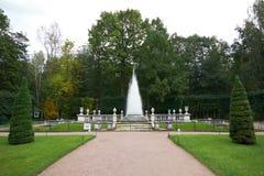 Fontanna ostrosłup w Peterhof saint petersburg Obraz Stock