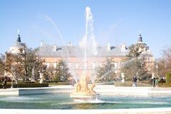 Fontanna pałac królewski Aranjuez, Madryt Zdjęcie Royalty Free