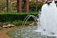 Fontanna, plac, Bricktown, Oklahoma miasto fotografia royalty free