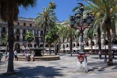 Placa Reial Barcelona Hiszpania Fotografia Stock