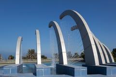 Fontanna przy corniche w Abu Dhabi Zdjęcia Royalty Free