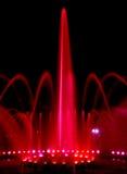 Fontanna przy nocą Fotografia Stock