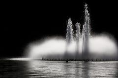 Fontanna przy nocą Fotografia Royalty Free