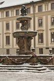 Fontanna przy Praga kasztelem Zdjęcia Stock