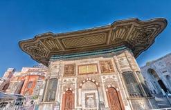 Fontanna sułtan Ahmed III blisko Hagia Sophia, Istanbuł Fotografia Stock